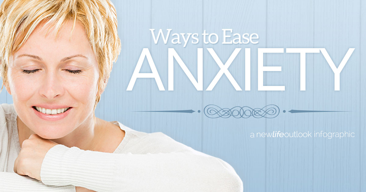Ovarian Cancer and Anxiety Infographic: New Life Outlook Ovarian Cancer Infographic